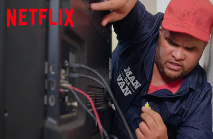 Netflix Man in a van